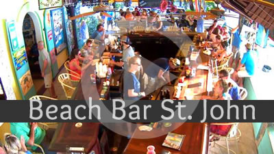 Beach Bar St. John Live Web Cam